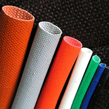 knitted fiberglass sleeving, coated fiberglass sleeving,Acrylic Coated Fiberglass Sleeving,bore silicon rubber coated fibre glass sleeving